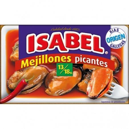 Mejillones en escabeche salsa picante